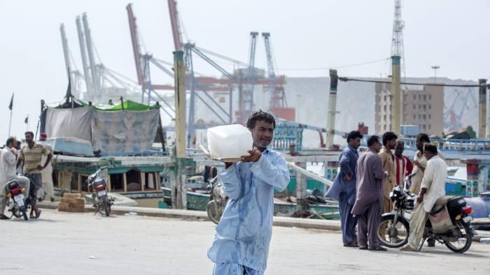 Gwadar Port in Gwadar, Balochistan. Pakistan is part of China's Belt and Road Initiative