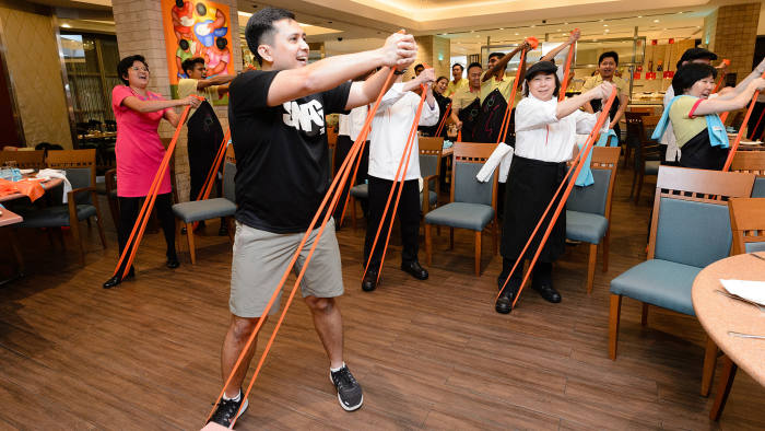 With the programme: a health initiative for workers at Singapore's Orchard Road precinct