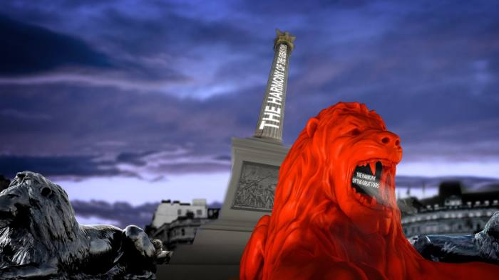 Es Devlin's 'Please Feed The Lions' which runs in Trafalgar Square, London from September 18-23