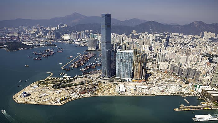 The site of the upcoming M+ museum in Hong Kong