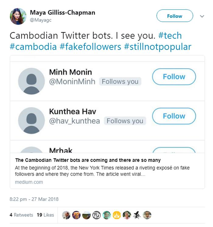 South-east Asia sprouts fake followers for prominent Twitter