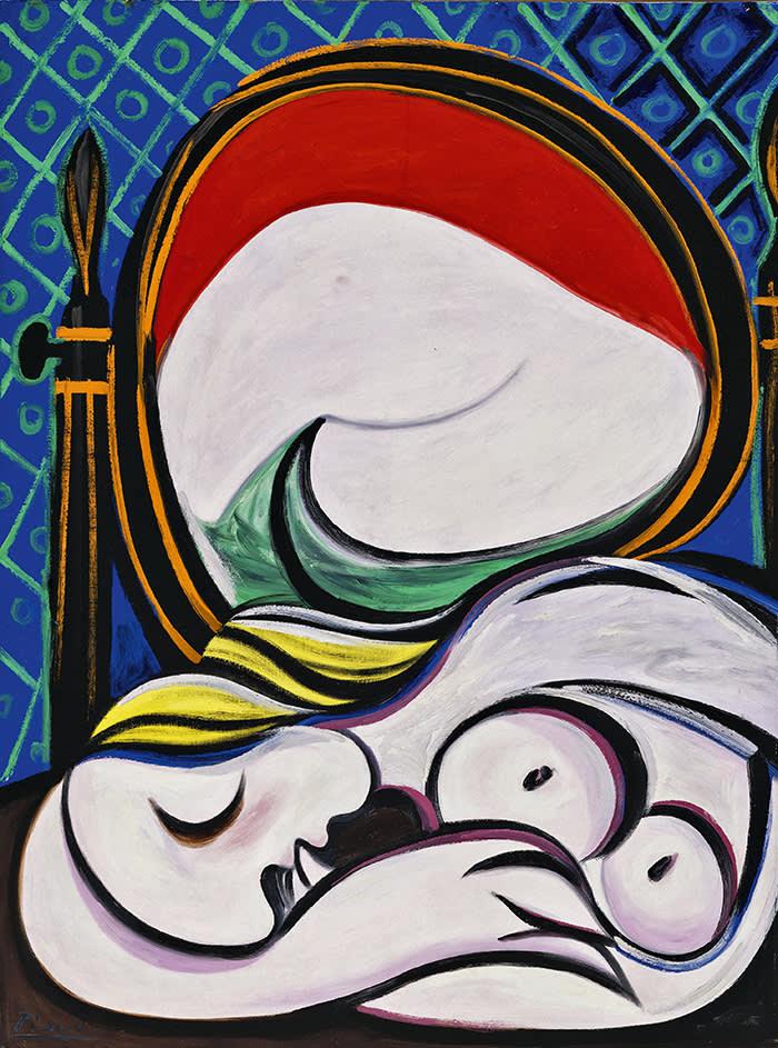 Pablo Picasso The Mirror (Le miroir) 1932 Oil paint on canvas 1300 x 970 mm Private Collection © Succession Picasso/DACS London, 2017