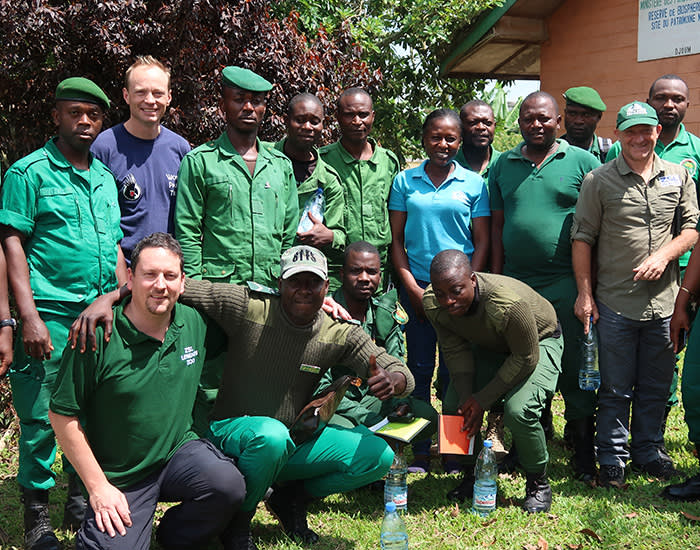 Eco-guards have been trained by ZSL to prevent poaching and look after the seized parrots