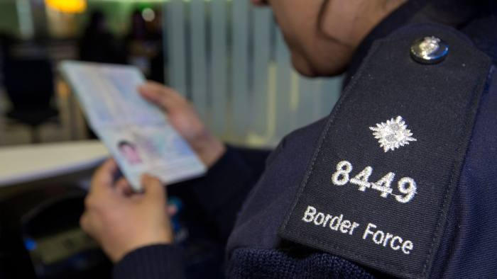 File photo dated 04/06/14 of a Border Force officer checking passports, as the latest official figures on immigration to the UK are published on Thursday. PRESS ASSOCIATION Photo. Issue date: Thursday February 23, 2017. Data on net long-term international migration in the year ending September will be released by the Office for National Statistics (ONS). See PA story POLITICS Immigration. Photo credit should read: Steve Parsons/PA Wire