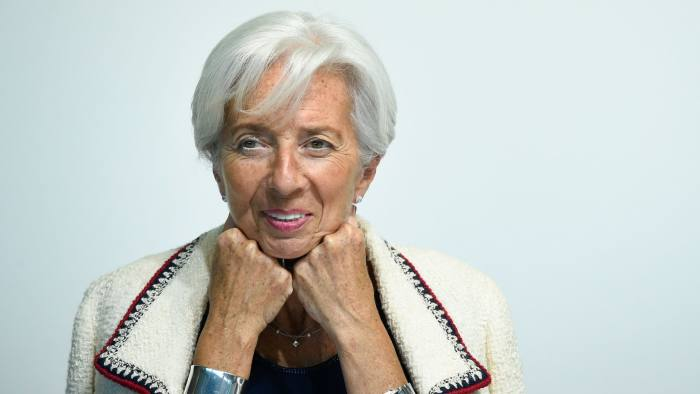 (FILES) In this file photo taken on June 13, 2019 International Monetary Fund (IMF) managing Director Christine Lagarde smiles during a press conference during an Eurogroup meeting at the EU headquarters in Luxembourg. - Christine Lagarde was appointed European Central Bank chief on July 2, 2019. (Photo by JOHN THYS / AFP)JOHN THYS/AFP/Getty Images