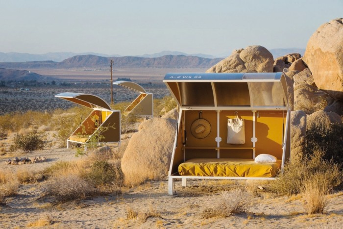 Zittel's sleeping pods at Wagon Station Encampment at A-Z West