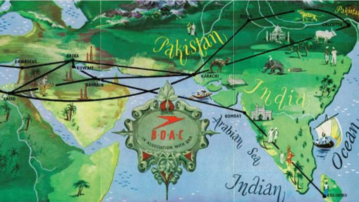 The art of the airline map | Financial Times Damascus World Map on cairo world map, istanbul world map, beirut world map, thebes world map, delhi on world map, ashgabat world map, basra world map, naples world map, mecca world map, middle east map, arabia world map, calicut on world map, harappa world map, algiers world map, samarkand world map, tehran world map, timbuktu world map, jerusalem world map, tripoli world map, palestine world map,