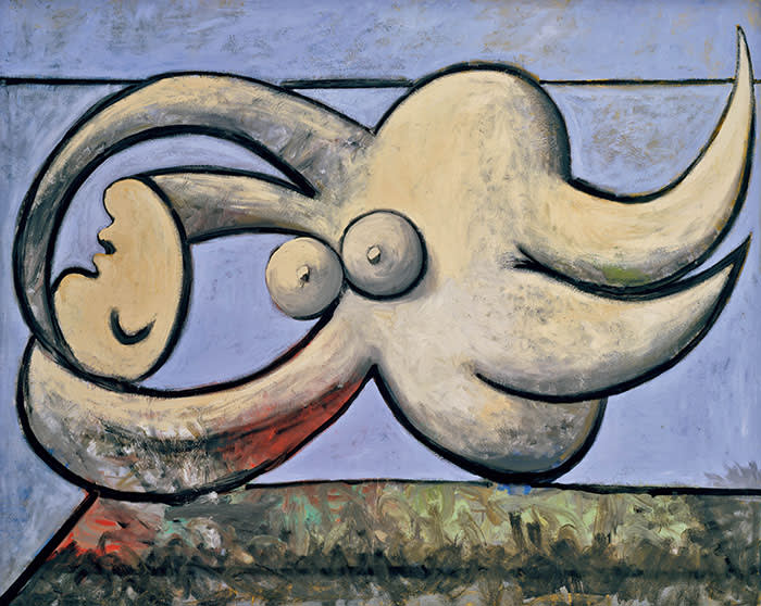 Pablo Picasso Reclining Nude (Femme nue couchée) 1932 Oil paint on canvas 1300 x 1610 mm Private Collection © Succession Picasso/DACS London, 2017