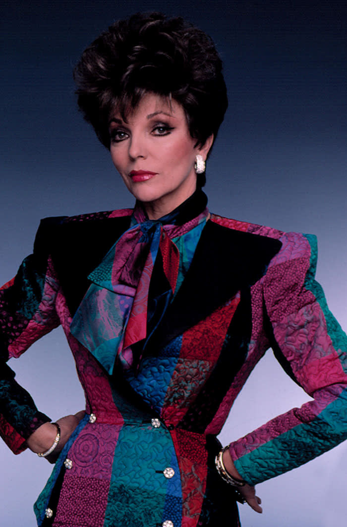 HD6DBP DYNASTY, Joan Collins as Alexis Carrington-Colby, 1981-1989. © Aaron Spelling Prod. / Courtesy: Everett Collection credit Alamy