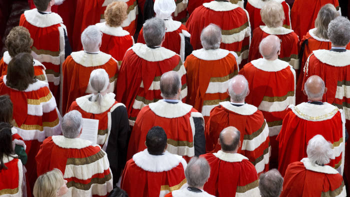 Tories Focus On Major Overhaul Of House Of Lords Financial Times