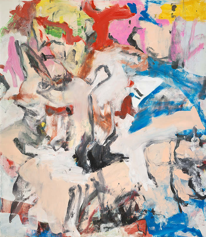 Willem de Kooning, Untitled XII, 1975, Oil on canvas, 79 ¾ x 69 ¾ inches (202.6 x 177.2 cm). © The Willem de Kooning Foundation / Artists Rights Society (ARS), New York.