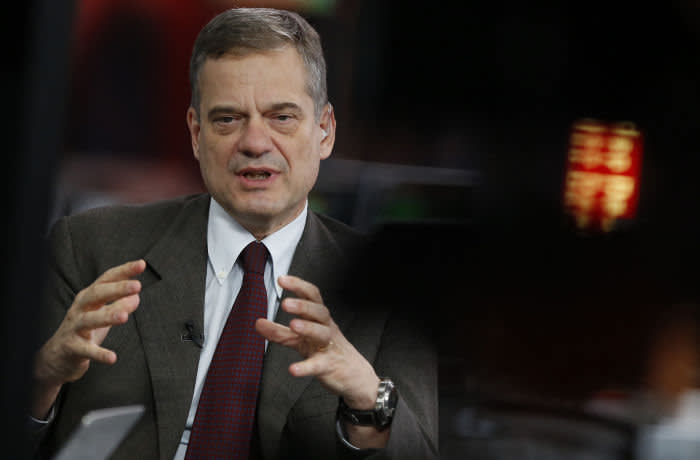Lorenzo Bini Smaghi, chairman of Societe Generale SA, speaks during a Bloomberg Television interview in London, U.K., on Tuesday, March 8, 2016. Societe Generale SA remains France's third-largest bank by total assets, with a French retail business making up a third of group revenue and 40 percent of operating income. Photographer: Luke MacGregor/Bloomberg