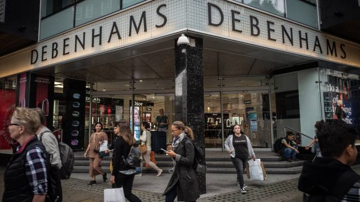 UK landlords face rent cuts from Debenhams stores