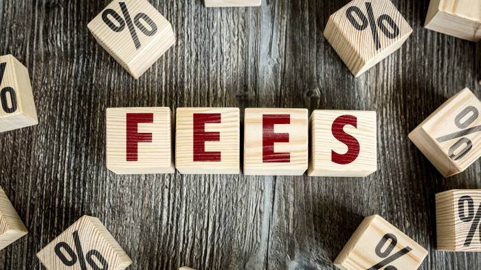 Wooden Blocks with the text: Fees - getty