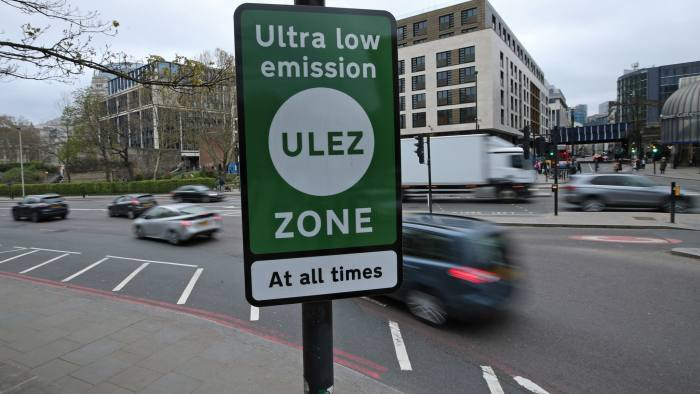 EMBARGOED TO 0001 MONDAY APRIL 8  A view of a information sign at Tower Hill in central London, for the introduction on Monday of the Ultra Low Emission Zone, as London has introduced one of the worldÕs toughest vehicle emissions standards. PRESS ASSOCIATION Photo. Picture date: Saturday April 6, 2019. Drivers of older, more polluting cars face paying a new £12.50 fee to enter the centre of the capital after the ultra-low emission zone (Ulez) came into force on Monday. Mayor of London Sadiq Khan said the scheme is being brought in because thousands of Londoners are dying early every year as a result of toxic air, with an increased risk of cancer, asthma, dementia and stroke. See PA story TRANSPORT ULEZ. Photo credit should read: Yui Mok/PA Wire