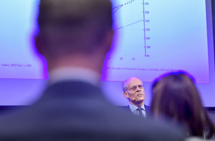 Stefan Ingves, governor of the Sveriges Riksbank, pauses during a news conference at the Swedish central bank headquarters in Stockholm, Sweden, on Thursday, Dec. 19, 2019. Sweden's central bank ended half a decade of subzero easing in a move that will provide relief to the finance industry and a test case for global counterparts experimenting with negative borrowing costs. Photographer: Mikael Sjoberg/Bloomberg
