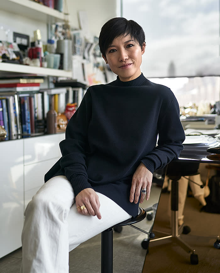 Sandra Choi at Jimmy Choo 10 Howick Place SW1P 1GW London for Financial Times