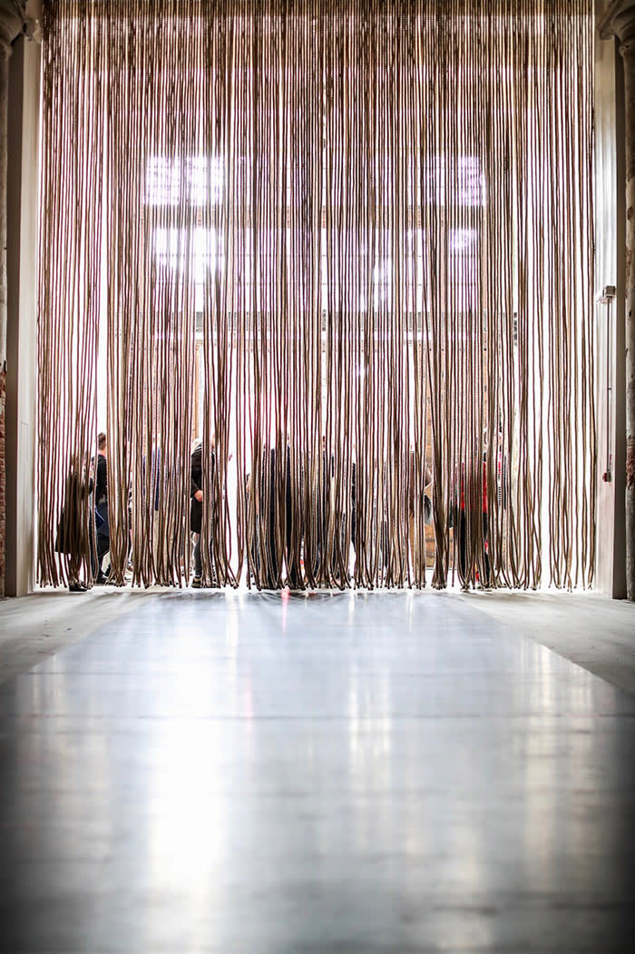 The entrance to the Corderia is draped with a curtain of ropes