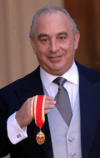 Philip Green receiving his knighthood, June 17 2006