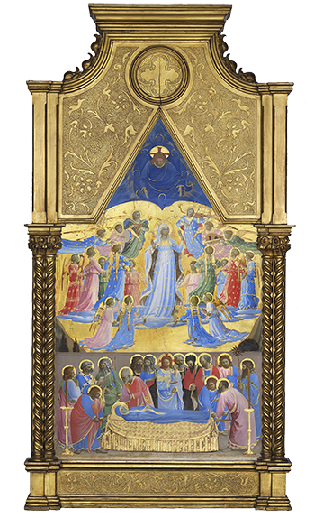 Fra Angelico's 'Dormition and Assumption of the Virgin' (1424-34)