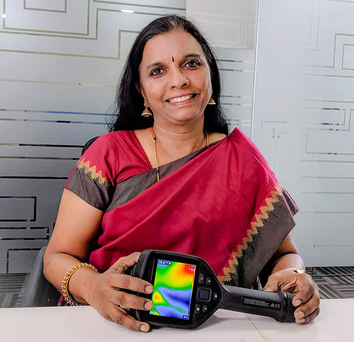Geetha Manjunath, whose company Niramai developed a low-cost screening tool that uses AI to detect breast cancer