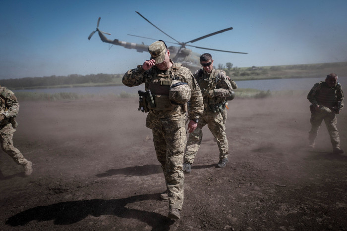 Europe's forgotten war. By David Bond. The conflict in Eastern Ukraine between Russian backed separatists and Ukrainian forces has been raging for 4 years and claimed 10,000 lives yet largely forgotten in the West. General Sergei Nayev arrives at the training exercise and demonstration at Pokrovske, Eastern Ukraine.