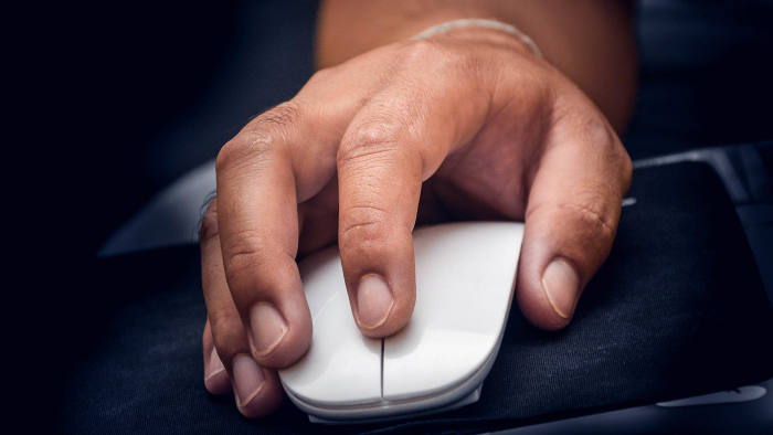 Finger press mouse