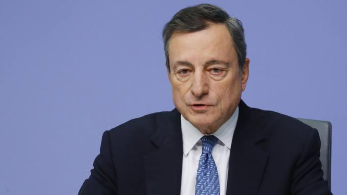 European Central Bank (ECB) President Mario Draghi speaks during a news conference at ECB headquarters in Frankfurt, Germany December 13, 2018. REUTERS/Kai Pfaffenbach