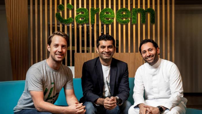 Careem co-founders Magnus Olsson, Mudassir Sheikha and Abdulla Elyas (Handout).