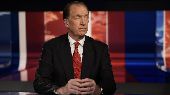 David Malpass, undersecretary for international affairs at the Treasury Department, listens to Trish Regan during