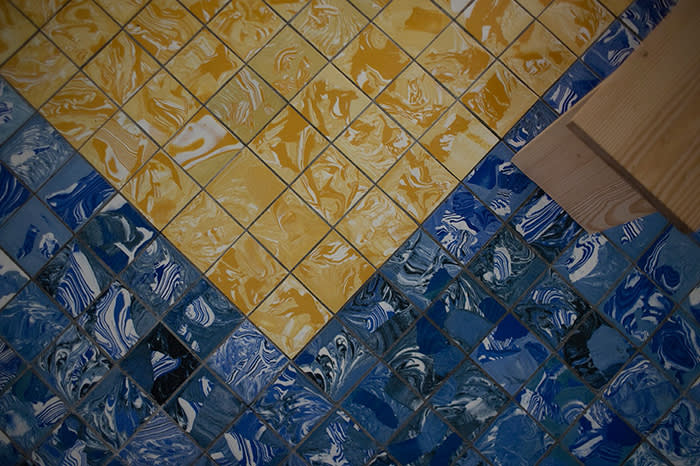UK collective Assemble have created a swirling tiled floor