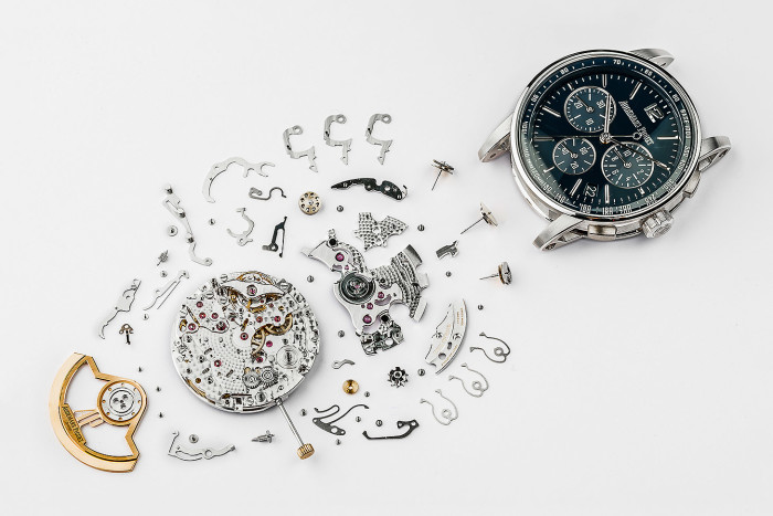 Deconstructed watch for the Financial Times (FT) at the Audemars Piguet headquarters in Le Brassus, Switzerland, Wednesday December 19 2018. (KEYSTONE/Valentin Flauraud)