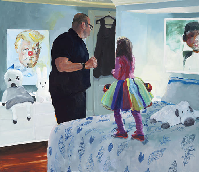"""Eric Fischl """"Worry"""", 2017 © Eric Fischl. Images are courtesy of Skarstedt."""