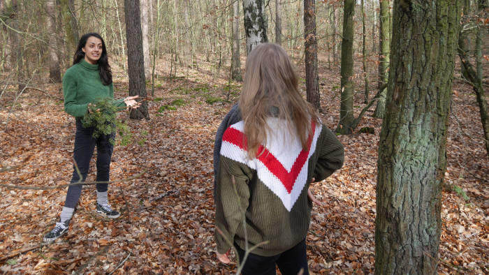 Emily McDonnell leads workshops on forest bathing