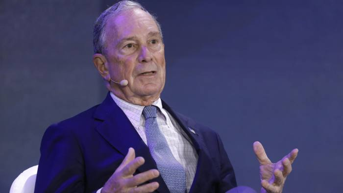 Michael Bloomberg, founder of Bloomberg LP, speaks during a panel discussion at the Bloomberg New Economy Forum in Singapore, on Wednesday, Nov. 7, 2018. Bloomberg is the founder and majority owner of Bloomberg LP, the parent company of Bloomberg News. The New Economy Forum, organized by Bloomberg Media Group, a division of Bloomberg LP, aims to bring together leaders from public and private sectors to find solutions to the world's greatest challenges. Photographer: Justin Chin/Bloomberg