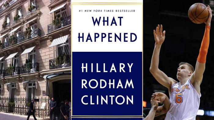 Hotel Lancaster Paris, Hillary Clinton's 'What Happened', New York Knicks Kristaps Porziņģis