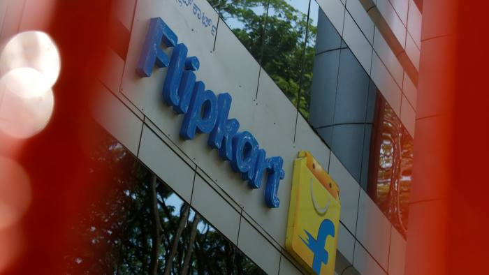 FILE PHOTO: The logo of India's e-commerce firm Flipkart is seen on the company's office in Bengaluru, India April 12, 2018. REUTERS/Abhishek N. Chinnappa/File Photo