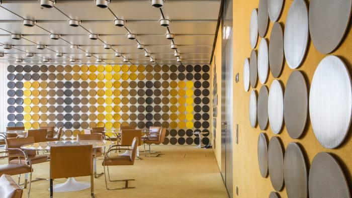 Bundesbank Dining Room Served Up For Op Art Show