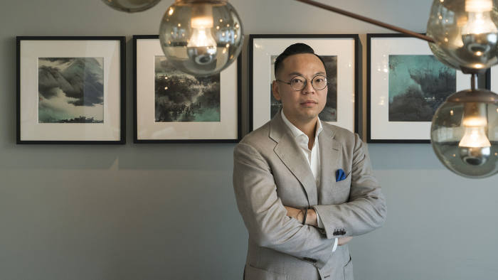 Alan Lo, co-founder and executive director of Classified Group, at Duddell's restaurant in Hong Kong.