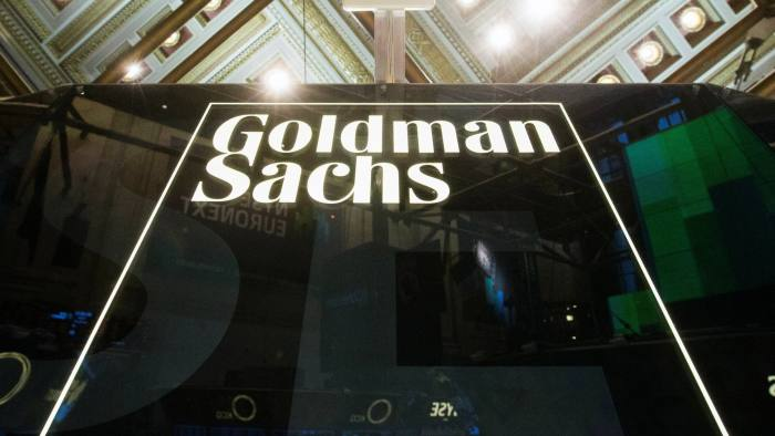 A Goldman Sachs sign is seen above the floor of the New York Stock Exchange shortly after the opening bell in the Manhattan borough of New York January 24, 2014. REUTERS/Lucas Jackson/File Photo - S1BETERLOVAA