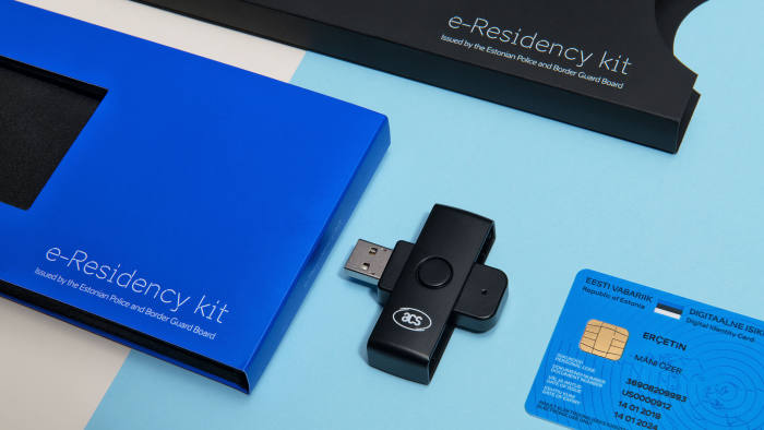 E-residency set up kit for Estonia's e-government programme. Handout.