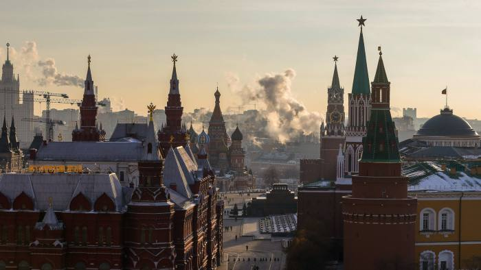 epa05640918 A general view from the roof of the Ritz-Carlton hotel on the Kremlin, the Red Square and the Historical Museum in Moscow, Russia, 21 November 2016. EPA/SERGEI ILNITSKY