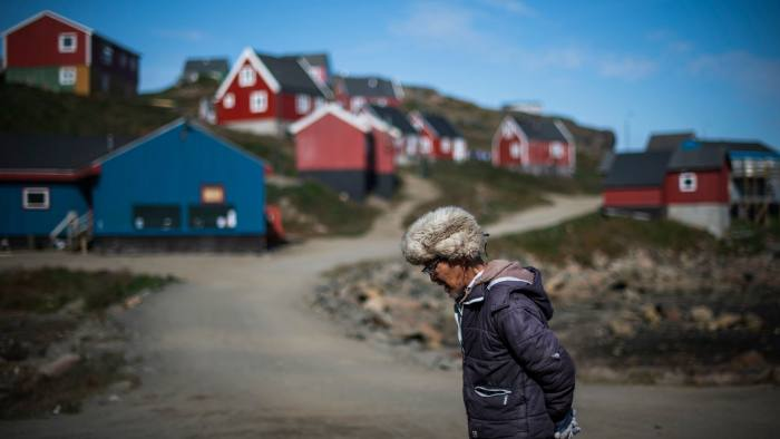 A resident in Kulusuk, Greenland. The notion of buying Greenland may not have been at the top of Mr Trump's agenda, but it was still at the front of his mind early this week