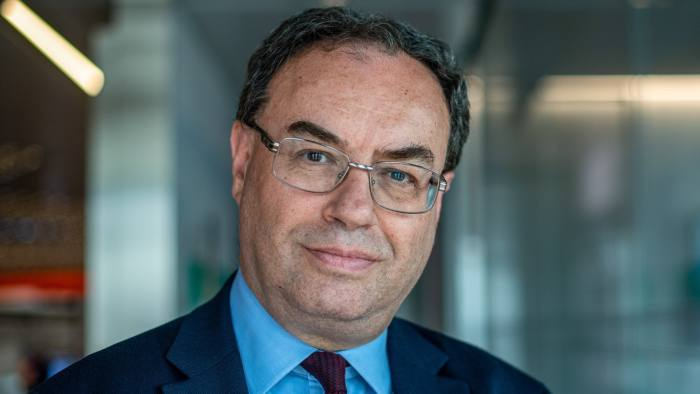 Andrew Bailey, chief executive officer of Financial Conduct Authority, poses for a photograph ahead of a Bloomberg Television interview in London, U.K., on Tuesday, April 23, 2019. TheBank of Englandneeds to do more to meet its diversity targets for senior roles, according tominutesfrom its February Court of Directors meeting. Photographer: Chris J. Ratcliffe/Bloomberg