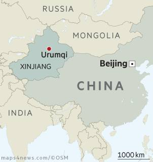 Map Xinjiang.Security Spending Ramped Up In China S Restive Xinjiang Region