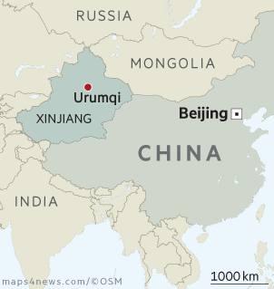 Map: Xinjiang China