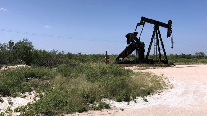 FILE PHOTO: A pumpjack is shown outside Midland-Odessa area in the Permian basin in Texas, U.S., July 17, 2018. Image taken July 17, 2018. REUTERS/Liz Hampton/File Photo