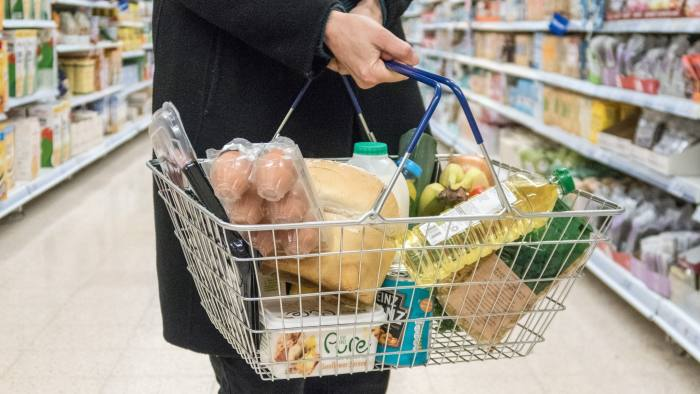 BRISTOL, ENGLAND - FEBRUARY 06: In this photo illustration, a basket of goods is seen in a supermarket on February 6, 2018 in Bristol, England. The Governor of the Bank of England Mark Carney has called for the UK Government to drop the Retail Price Index as a measure of inflation which is used to set rail fares, student loan repayments and government contracts worth billions of pounds, because it has known errors. According to the Office of National Statistics the RPI has a number of calculation errors and has consistently overestimated inflation meaning many costs set by the RPI have risen too high, whilst beneficiaries of government bonds have had larger than expected returns, funded by the taxpayer. Because RPI is typically higher than the BankÕs preferred measure of inflation, the Consumer Prices Index, many experts believe it paints an unrealistic picture of the cost of living and both the government and businesses have developed a habit of choosing which ever inflation measures that best suit their interests. (Photo by Matt Cardy/Getty Images)