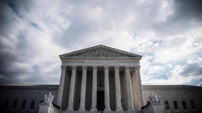 (FILES) In this file photo taken on December 24, 2018 the Supreme Court Building is seen in Washington DC. - The US Supreme Court on March 18, 2019 takes up a lower court's ruling that some Virginia districts were deliberately redrawn to diminish the impact of the African American vote -- an urgent issue as the eastern swing state prepares for legislative elections.The state, whose population is nearly 20 percent black, underwent redistricting in 2011 by the House of Delegates, the lower house of the state legislature. (Photo by Eric BARADAT / AFP)ERIC BARADAT/AFP/Getty Images
