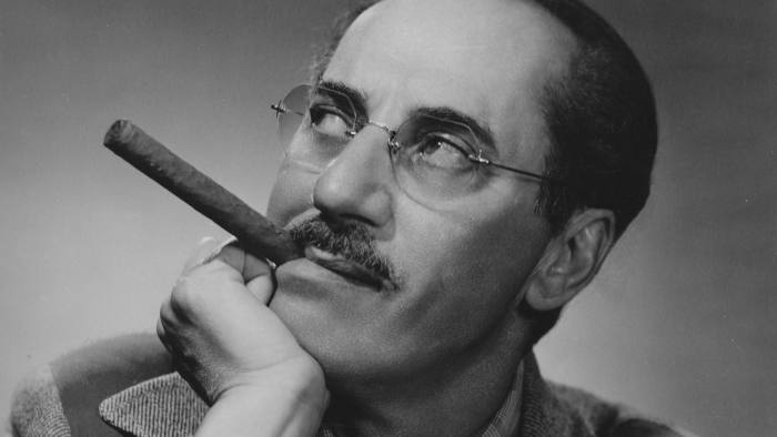 American actor and comedian Groucho Marx (1890 - 1977), host of the television quiz show 'You Bet Your Life', circa 1948. (Photo by FPG/Archive Photos/Getty Images)